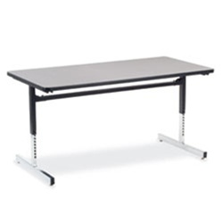 virco computer table rectangular 30u0026quot x 60u0026quot 1 1