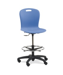 Virco Lab Stools with Plastic Seat & Back