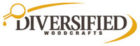 Diversified Woodcrafts Four Station Service Center w/ Full Cupboard Flat Top, Phenolic Resin Top (Diversified Woodcrafts DIV-C2724KF)