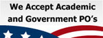 We accept Government & Public School Purchase Orders