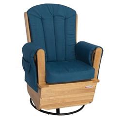 Enjoyable Foundations Saferocker Ss Swivel Glider Rocking Chair Natural Blue Foundations Fou 4303046 Unemploymentrelief Wooden Chair Designs For Living Room Unemploymentrelieforg