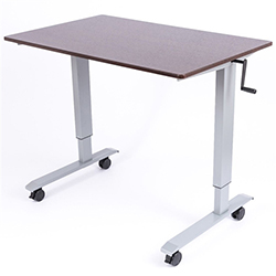 Luxor Standup Cf48 Dw 48 Quot Crank Adjustable Stand Up Desk